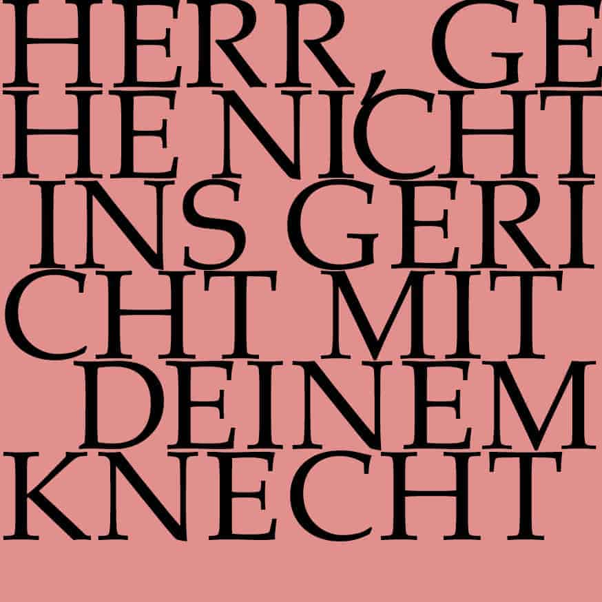 J.S. Bach-Stiftung Kantate BWV 105